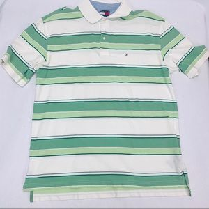 Tommy Hilfiger Mens Polo Sz XL Multicolor Stripped